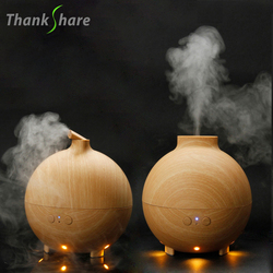 THANKSHARE Air Humidifier Ultrasonic Essential Oil Diffuser Vaporizer Wood Grain Difusor 625ml Aroma Mist Maker For Office Home