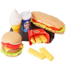 Food-Toys Educational-Toys Play-House Simulation Hamburger Fries Kitchen-Set Children Pretend