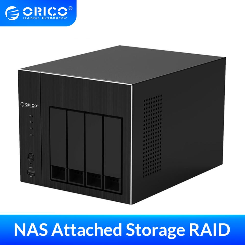 ORICO <font><b>2.5</b></font> 3.5'' NAS 4 Bay Network Attached Storage with <font><b>RAID</b></font> HDD Case SATA to USB3.0 HDD Docking Station SSD Case <font><b>Enclosure</b></font> 48TB image