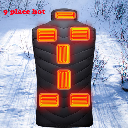 New Adult Outdoor USB Infrared Heating Vest Jacket Winter Flexible Electric Thermal Clothing Waistcoat Fishing Hiking Dropship5