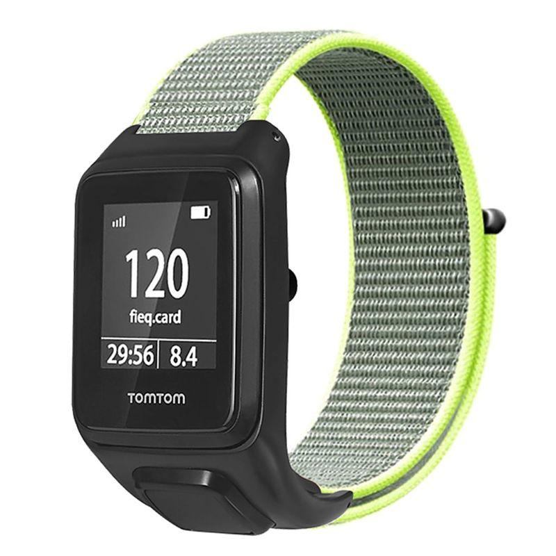 Anti Scratch Loop Nylon Watch Band Wrist Strap Bracelet Replacement For TomTom Runner 3/Adventurer/Spark 3 Music/Golfer 2 Smart