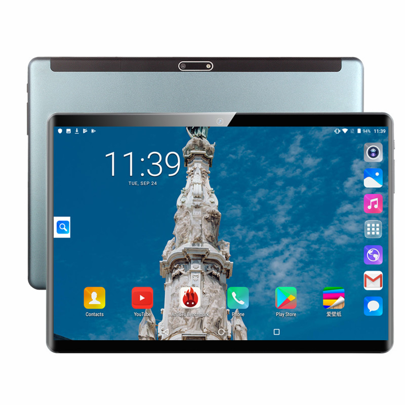 Hot Sale 2020 New 10 Inch 3G 4G LTE Dual SIM Tablet PC Octa Core 6GB RAM 128GB ROM Android 9.0 10.1 IPS 1280*800 WiFi GPS