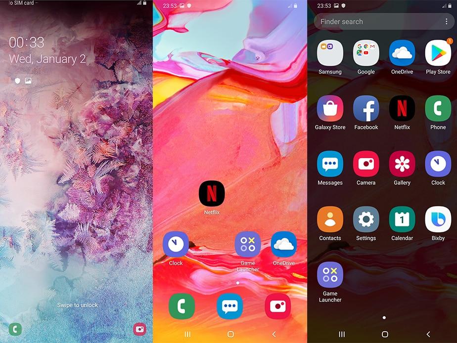 Samsung Galaxy A70 Cellphone Full screen 6.7 Inch 8GB 128GB Octa Core