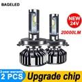 BAGE светодиодный CSP H7 светодиодный автомобильный светильник H4 светодиодный светильник H1 H3 HB3 9005 светодиодный головной светильник 9006 hb4 H11 све...