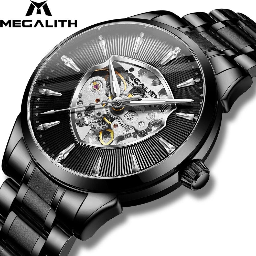 MEGALITH Automatic Mechanical Men Watches Fashion Waterproof Sport Man Watch Luxury Stainless Man Clock Relogio Masculino 8210M