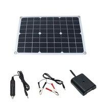 50W 태양 전지 패널 태양 전지 폴리 태양 전지 패널 USB 출력 컨트롤러 자동차 요트 12V 배터리 보트 충전기