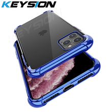 KEYSION Shockproof Case for iPhone 11 Pro Max plating Air-bag Anti-knock Clear Cover New 2019