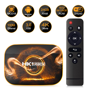 Image 2 - HK1 R1スマートテレビボックスアンドロイド10.0 4ギガバイト64ギガバイトなrockchip RK3318 1080 1080p H.265 4 18k googleプレーヤー店HK1 rbox R1セットトップボックスpk H96 X96
