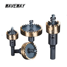 waveway Drill Bit Set Holesaw Carbide Tip HSS Hole Saw Cutter Drilling Kit Hand Tool forWood Stainless Steel Metal Alloy Cutting new free shipping bosi 16pc hole saw bit kit set holesaw wood 3 4 to 5