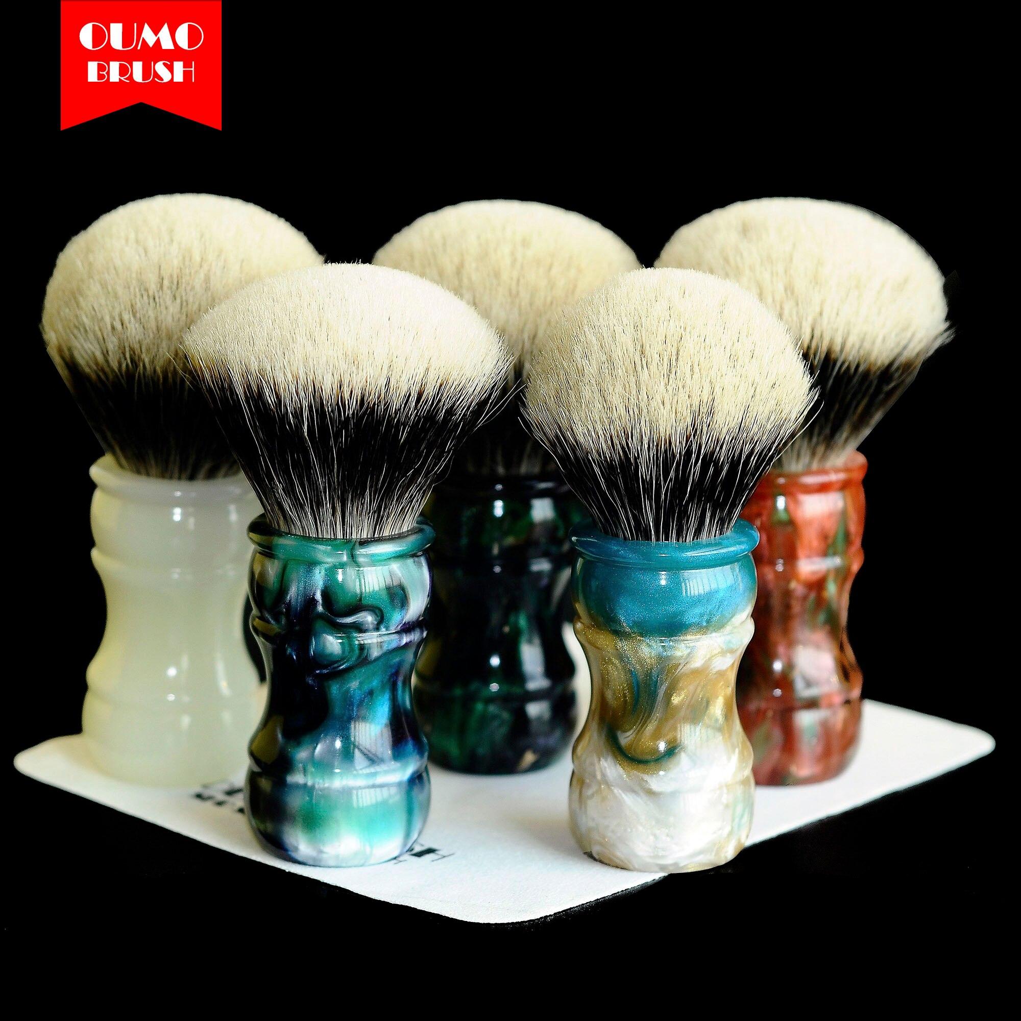 OUMO BRUSH - 2019/9/18 Terracotta Warriors Shaving Brush With SHD Manchuria Finest 2 Band Gel City 26MM28MM