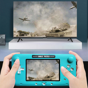 Image 3 - 2019 plus récent 4 pouces grand écran rétro Console de jeu Portable lecteur de jeu vidéo Portable pour Nes jeux HDMI Out Rechargeable