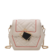 luxury handbags women bags A six-diamond-shaped metal lock bag for women with 2019 new single-shoulder chain cross-body bag luxury handbags women bags designnew autumn 2019 fashionable ringstrap chain bag single shoulder bag cross body bag for women