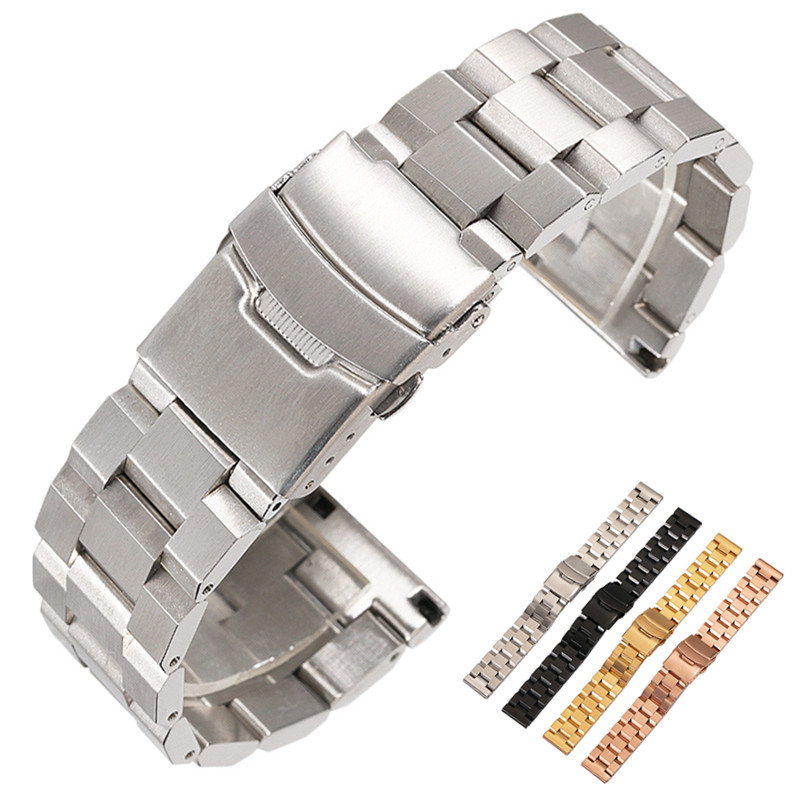 HQ 18mm 20mm 22mm 24mm Width Stainless Steel Band for <font><b>Samsung</b></font> Gear Sport S2 S3 Galaxy 42mm <font><b>46mm</b></font> Watch <font><b>Strap</b></font> Metal Wristband image