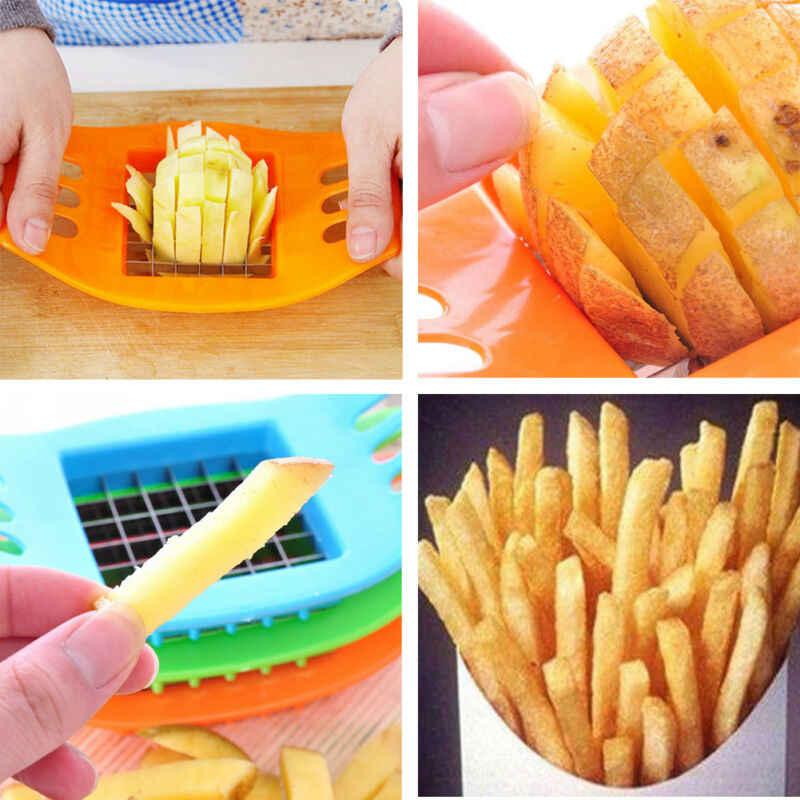 Multifuncional 1Pcs Francês Fry Potato Chip Cortador de Legumes Fruit Slicer Chopper Chipper Lâmina Cozinha Fácil Ferramentas