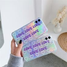 For iphone 11 Pro Max laser cute LOVE fashion Transparent so