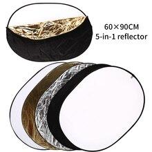 Sh 60X90 Cm 5 In 1 Draagbare Inklapbare Multi Disc Diffuer Licht Ovale Reflector Met draagtas Voor Fotografie Studio Schieten
