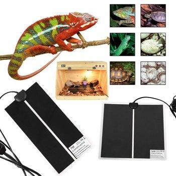 Reptile Calore Zerbino Incubatore Pet Pad di Riscaldamento Pet Rettili Terrario Caldo Riscaldatore Con Termostato Regolatore 5 W/7 w/14 W/20 W