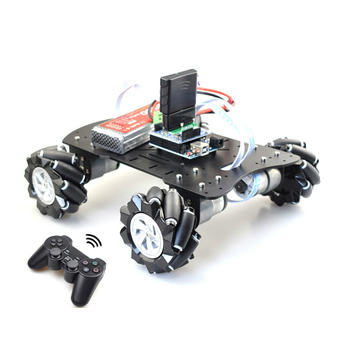 Handle Remote Control Smart Mecanum Wheel Robot Car Omni-Directional for Arduinoo with 12V Encoder Motor DIY Project STEM 50mm double roller layers plastic omini track bearing conveyor transfer line robot omni directional skate wheel