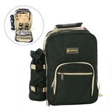 Pique nique en plein air sac à dos sac à dos Portable Camping voyage BBQ sac à déjeuner thermique sacs de pique nique avec vaisselle ensemble de couverts