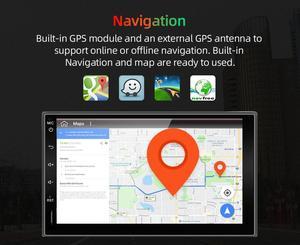 Image 3 - Eunavi 2 Din Автомобильный мультимедийный плеер GPS Радио Аудио Авто Универсальная навигация IPS сенсорный экран сабвуфер для Nissan Toyota WIFI