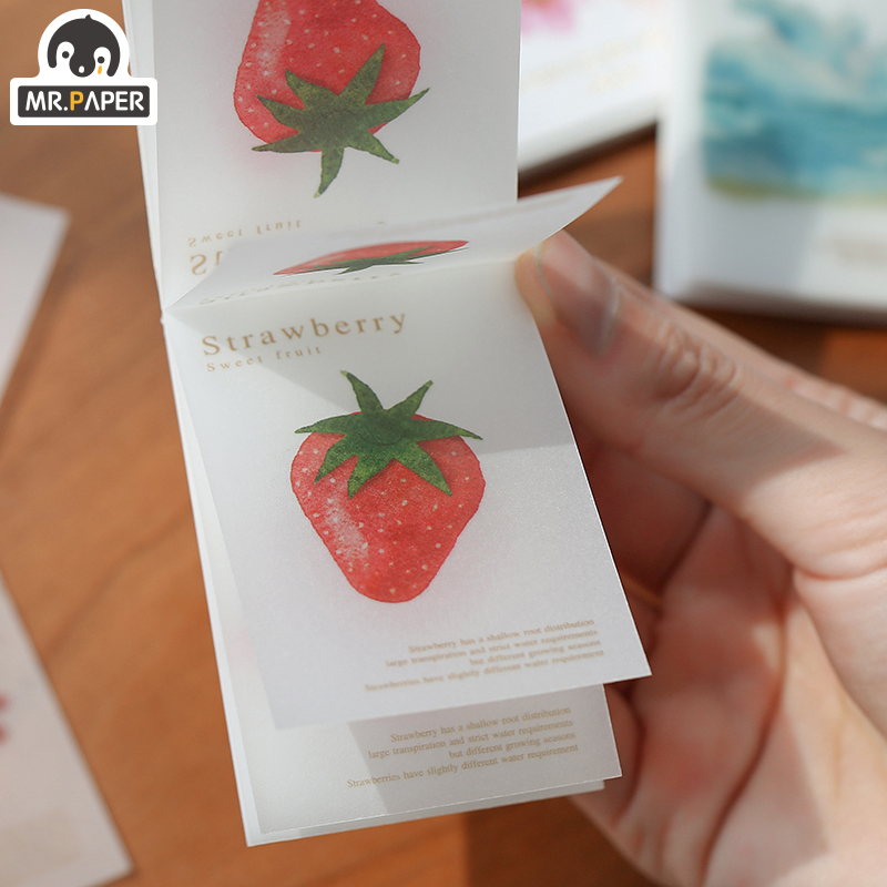 Mr.paper 5pcs/box Galaxy Fruit Sulfate Paper Card Scrapbooking/Card Making/Journaling Project DIY Retro Hangtag with Hole Cards 5