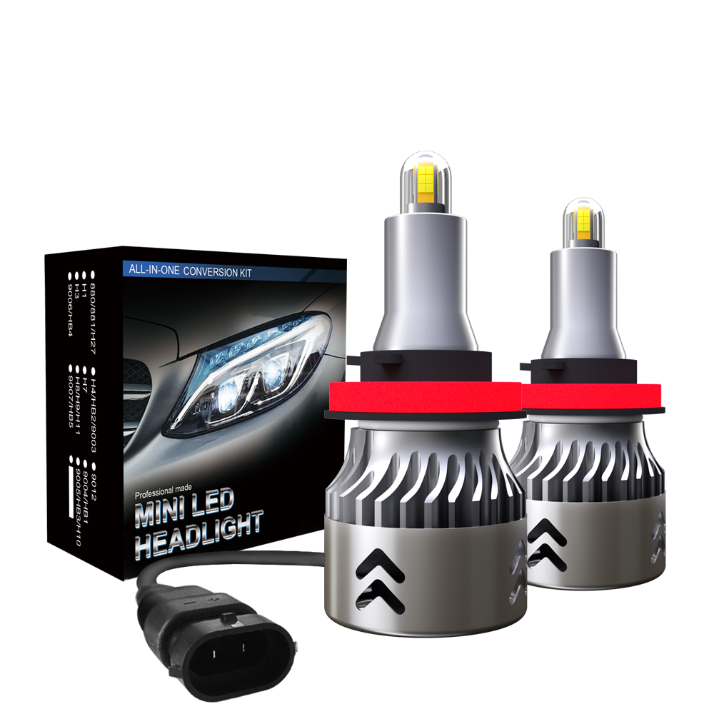 2x <font><b>360</b></font> Degree 8 sides H7 H11 <font><b>Led</b></font> headlight Blubs for Car Lights H1 HB3 HB4 H8 <font><b>H9</b></font> 9005 9006 100W 16000Lm 6000K Turbo Fan Foglamps image