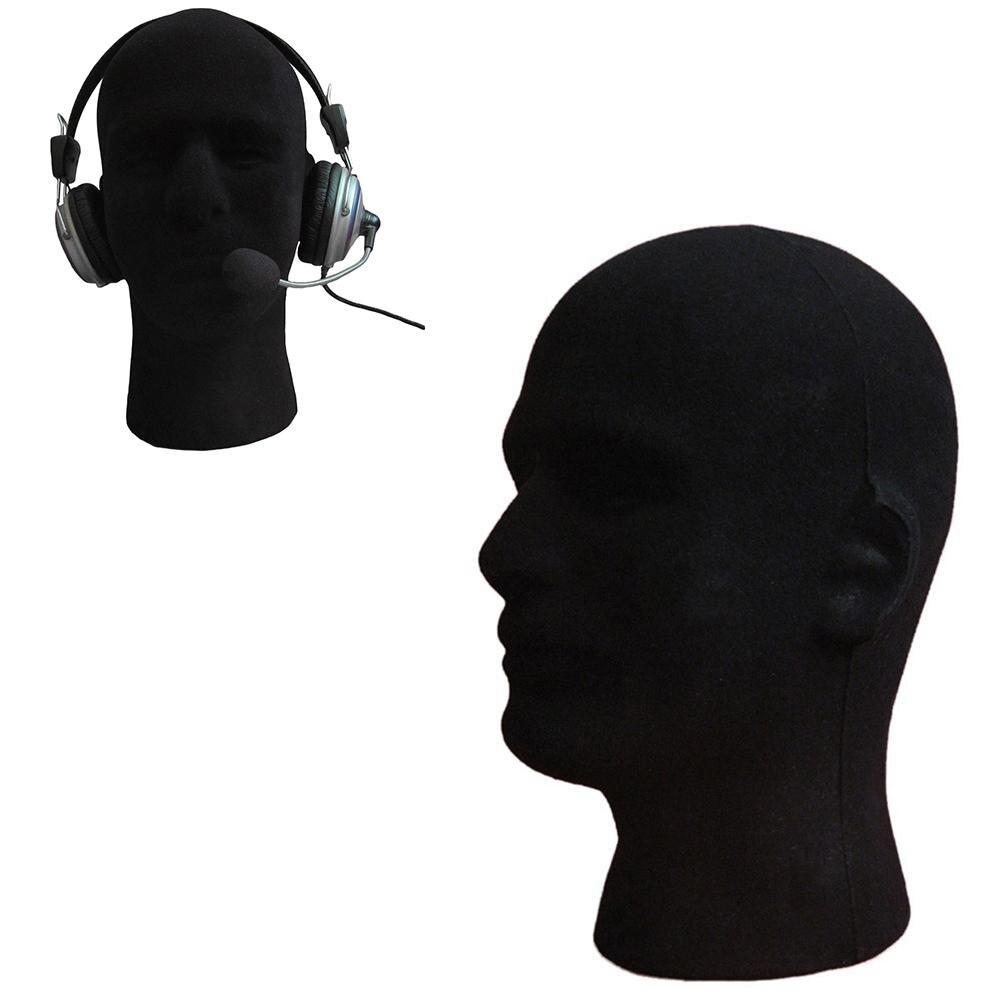 Мужская пенопластовая модель головы, обучение косметологии, очки, гарнитура, парик, дисплей, подставка, инструмент, манекен, аксессуары для ...