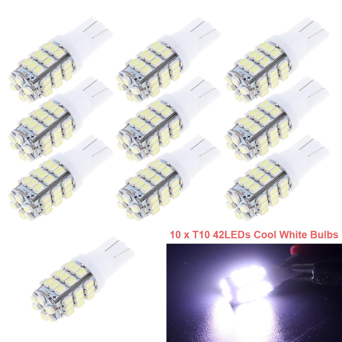 2 X T10 White Car 42-smd Backup Reverse LED Light Bulb 921 912 906 168 192 W5W
