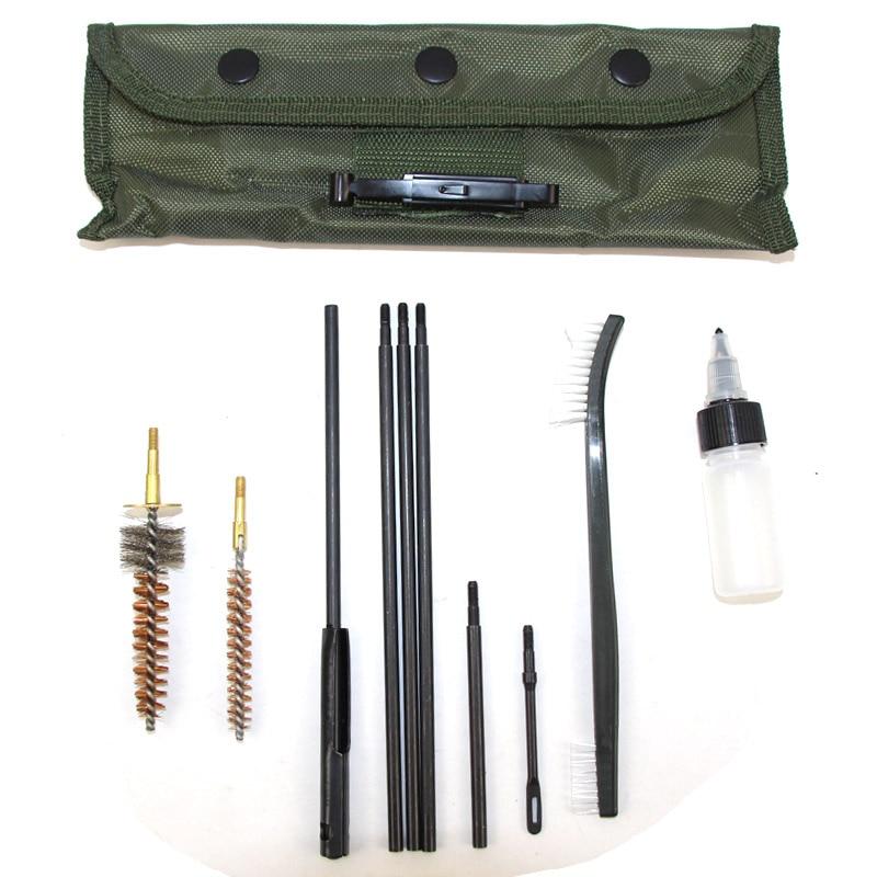 10Pcs//Set Pro Cleaning Kit Set Rod Brown Nylon Brush For .22 22LR .223 .257 556