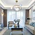 Современный подвесной светильник светодиодный для столовой спальни фойе круглый стеклянный шар Черное золото скандинавский простой совре...