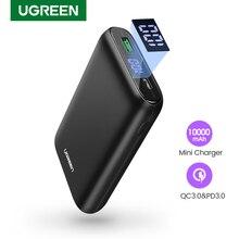 Ugreen power Bank 10000 мАч Быстрая зарядка 4,0 3,0 QC3.0 внешняя Мобильная батарея быстрое PD зарядное устройство для iPhone 11 8 Xs Mini power bank
