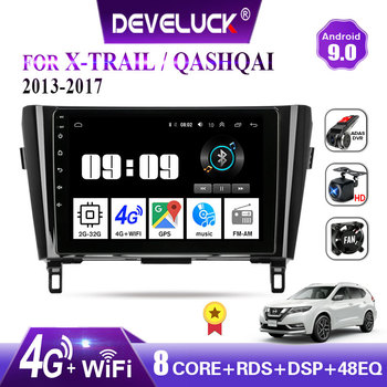 Android 9.0 2 din Car Radio Multimedia Video Player Navigation GPS for Nissan X-Trail Qashqai j11 j10 2013 2014 2015 2016 2017 image