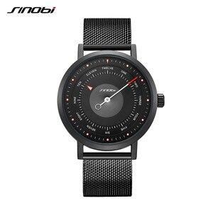 Image 2 - SINOBI חמה אופנה גברים של Creative ספורט שעון קוורץ שעון מזדמן צבאי זוהר עמיד למים שעון יד Relogio Dropshipping