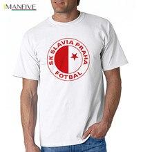 IMANFIVE men Slavia Praha T Shirts Milan Skoda Muris Mesanovic printing Short Sleeve Anciana Fans Club Cotton tshirt Tops scooter praha
