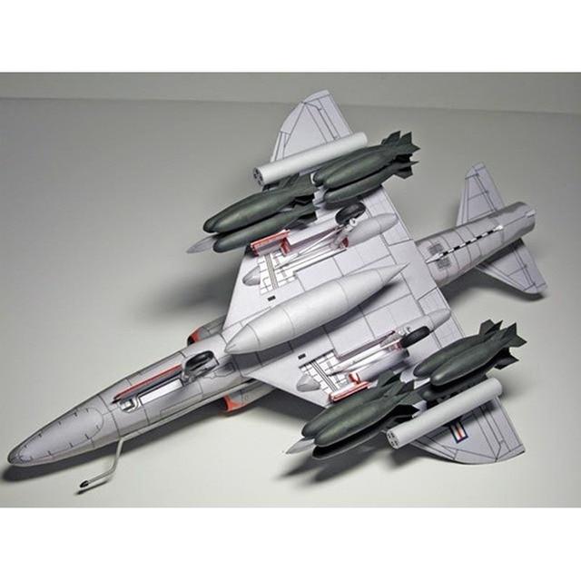 1:33 U.S. A-4 Skyhawk Aircraft DIY Emulational DIY 3D Paper Card Model Building Set Educational Military Model Construction Toys 4