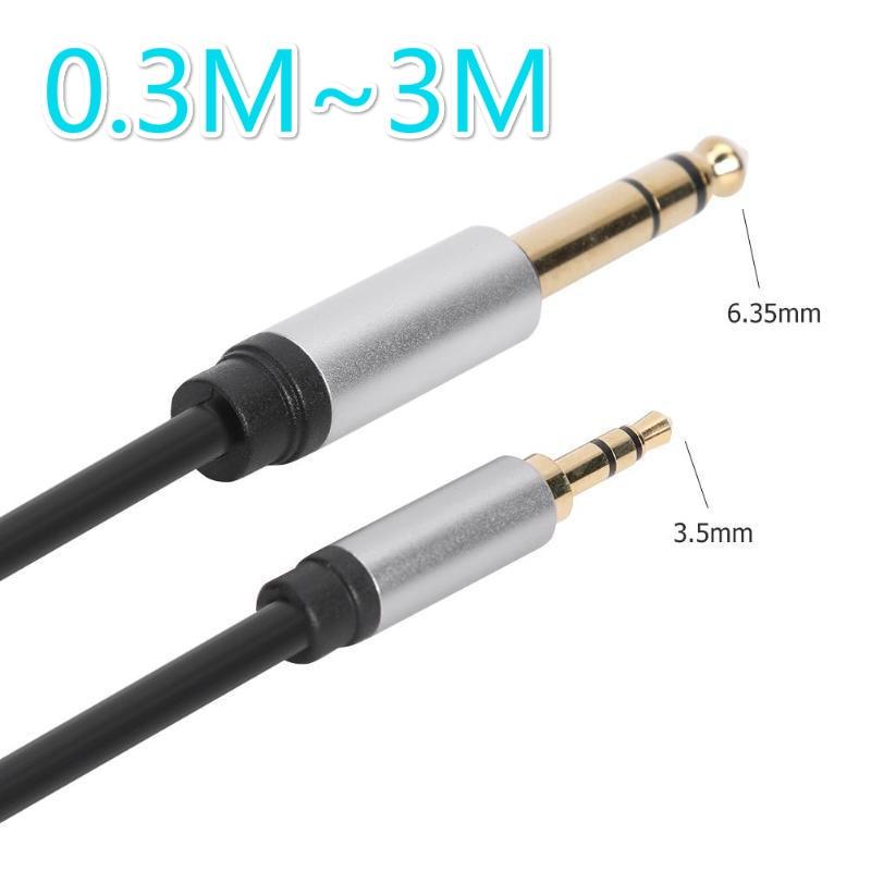 3,5 мм разъем для 6,35 мм аудио Aux кабель линия кабель со штыревыми соединителями на обоих концах для Xiaomi аудио видео кабели аксессуарами для ди...
