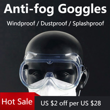 مكافحة الضباب الدراجات نظارات المهنية واقية حملق دراجة دراجة نظارات مختومة نظارات للجنسين تستخدم مع قناع N95 نظارات