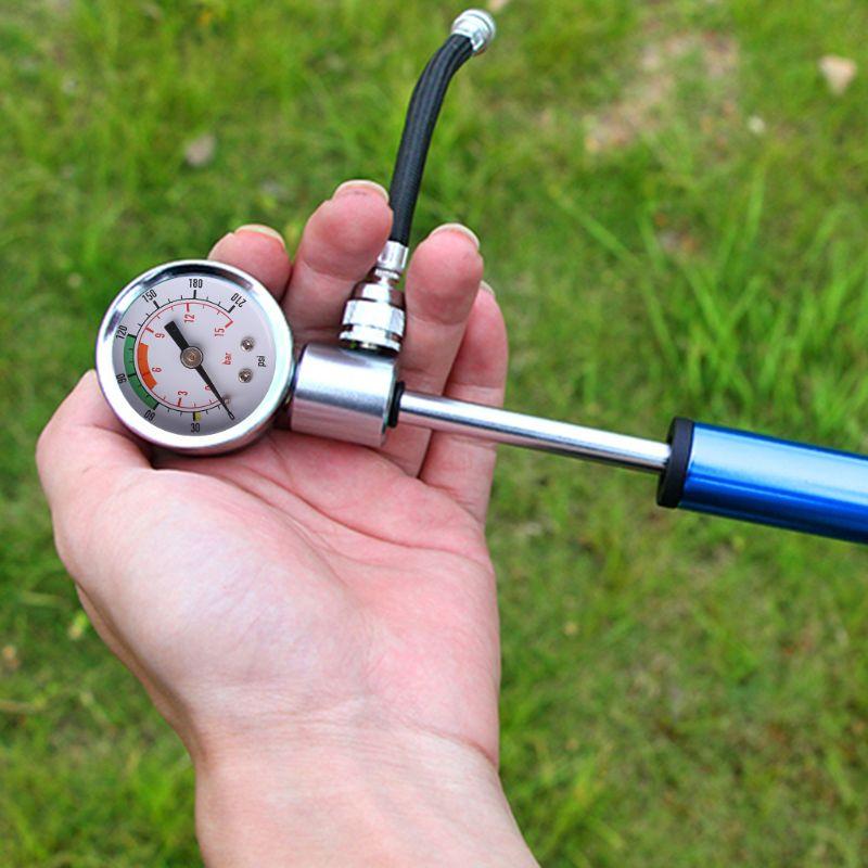 Компактная подвесная вилка высокого давления для горного велосипеда и задний амортизирующий насос 210 psi