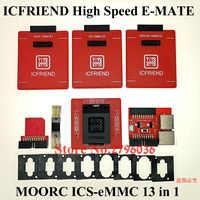 MOORC ICFRIEND High Speed E-MATE E MATE PRO EMMC ICs-eMMC 13 in 1 BGA with Easy jtag plus,UFI Box,MEDUSA Pro,ATF Box,Riff Box