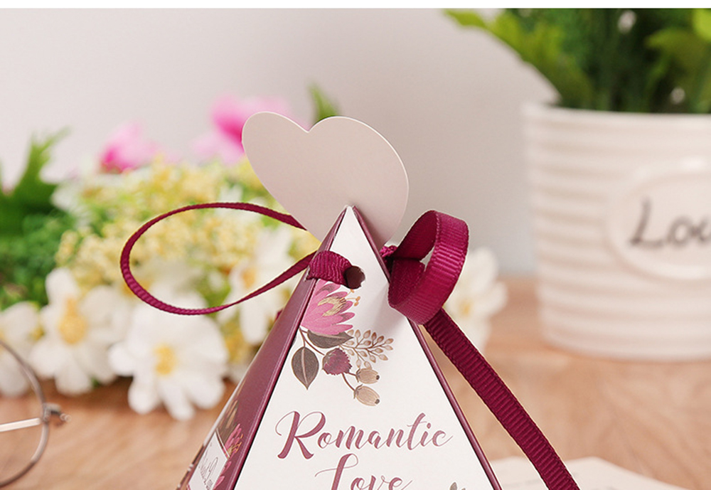 Triangular Pyramid Marble Candy Box Wedding Favors and Gifts Boxes Chocolate Box for Guests Giveaways Boxes Party Supplies-25