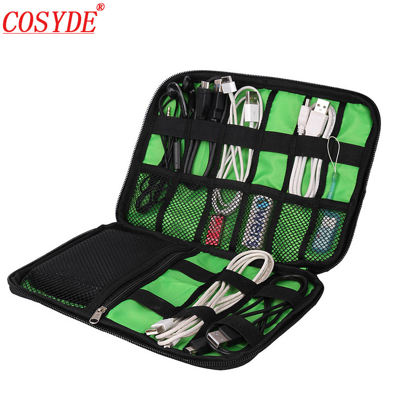 Travel Insert Bag Portable Cable Storage Organizer Bag Waterproof Shockproof Earphone Digital USB Sorting Travel Accessories Bag