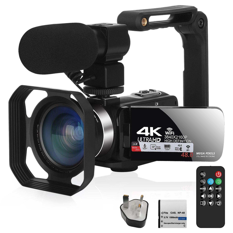 KOMERY 2020 новая видеокамера 4K видеокамера ИК Ночное Видение ввоз для YouTube потоковая с WiFi 16X цифровой зум