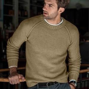 Image 4 - סתיו החורף מוצק סוודר גברים החדש מקרית Slim Fit Mens סרוג סוודרים נוחות O צוואר סריגי סוודרים גברים S 3XL למשוך Homme