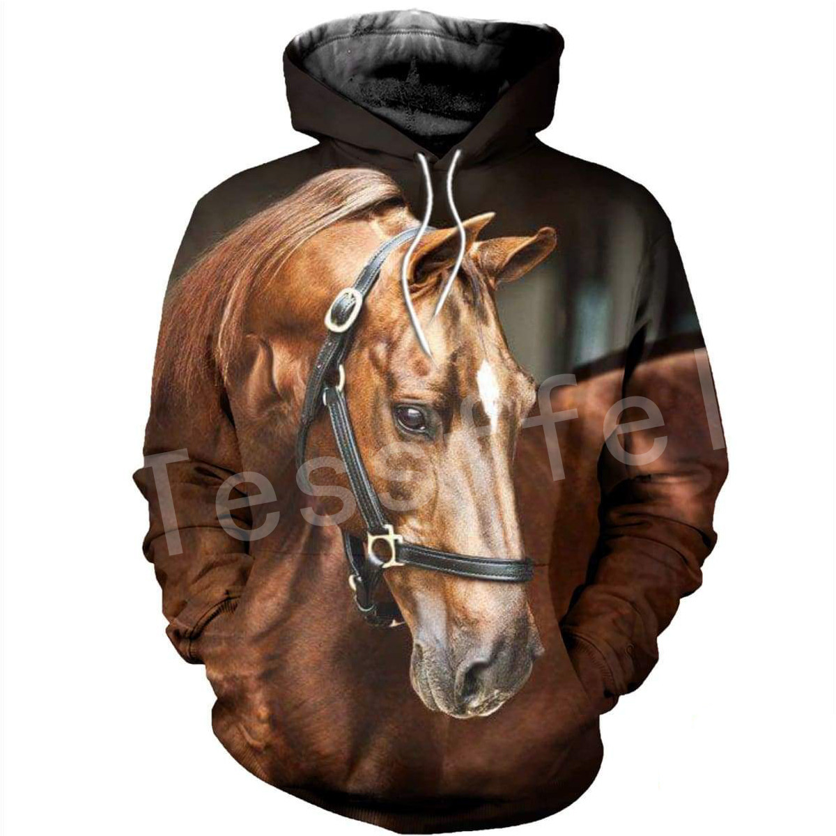 Tessffel Animal Horse Art Unisex Colorful Casual Tracksuit Harajuku 3Dfull Print Hoodie/Sweatshirt/Jacket/Mens Womens S-9