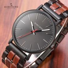 BOBO kuş ahşap saatler Mens 2020 yeni moda kuvars kol saati özelleştirmek ahşap hediye batı İzle kutusu saat erkek relogio masculino