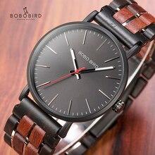 בובו ציפור עץ שעונים Mens 2020 חדש אופנה קוורץ שעוני יד אישית עץ מתנה מערב שעון תיבת שעון זכר relogio masculino