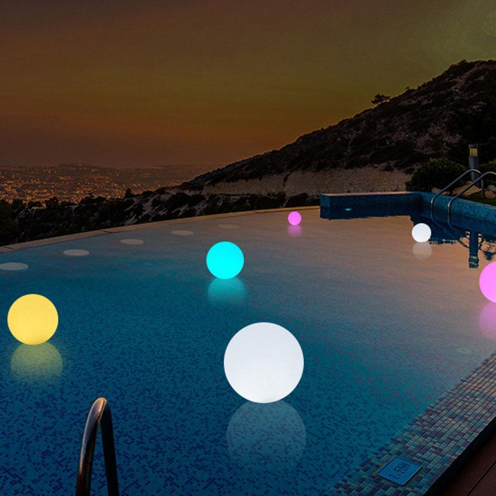 Kawaii Inflatable Luminous Ball Pvc Remote Control LED Ball Toys Water Beach Ball Flashing Children's Wave Outdoor