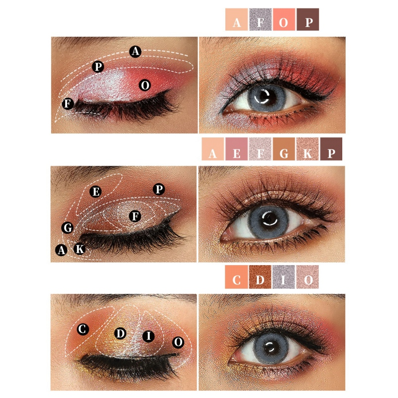 Tropical Imprint 16 Color Eyeshadow Tray Waterproof Smudge proof Easy To Color Shimmer Matte Eye Shadow Imagic Pigment Palette in Eye Shadow from Beauty Health