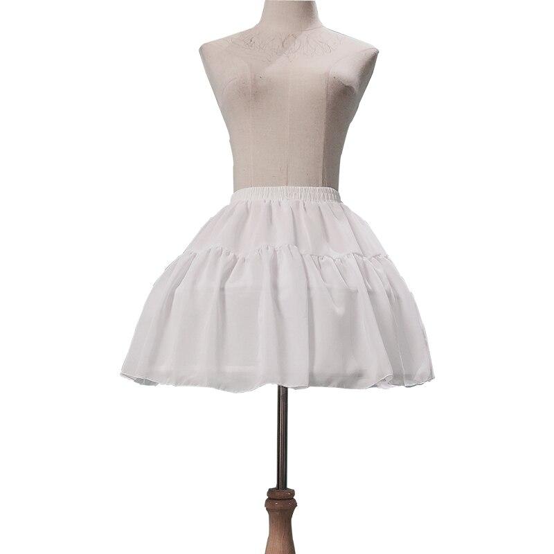 2019 Ruffles Chiffon Underskirt Short DressPetticoat Tow Bones Lolita Petticoat Ballet Rockabilly Crinoline