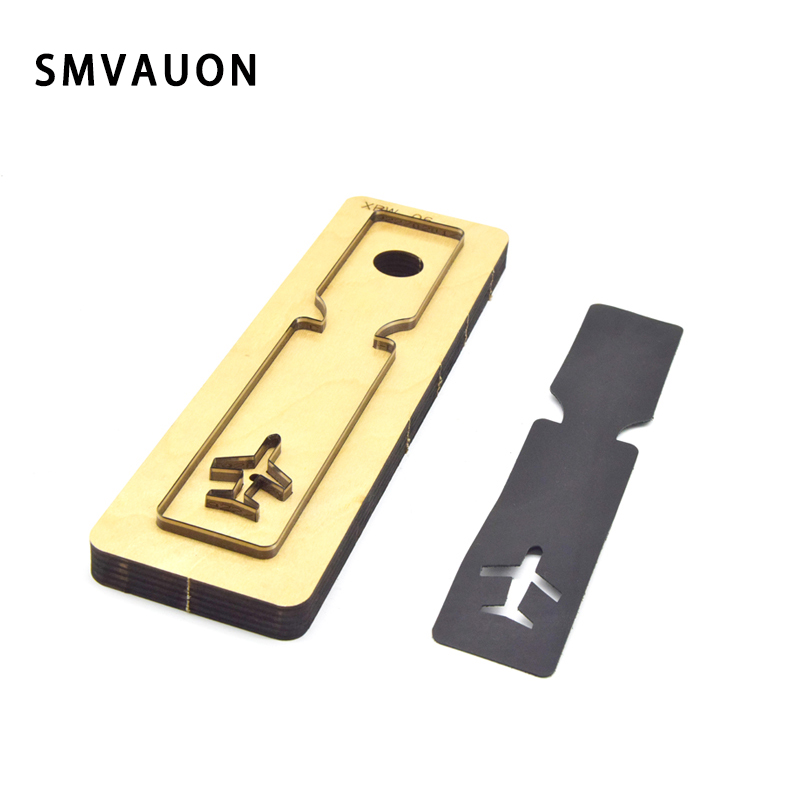 SMVAUON New Leather Die Cutter DIY Luggage Tag ID Card Set Key Ring Steel Punch Cutting Mold Wood Dies For Leather Crafts